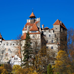 Bran Castle in Romania, built in 1377 and inhabited by Vlad the Impaler, better known as Dracula
