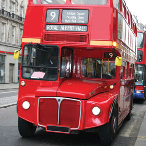 Ride the iconic double decker bus in London