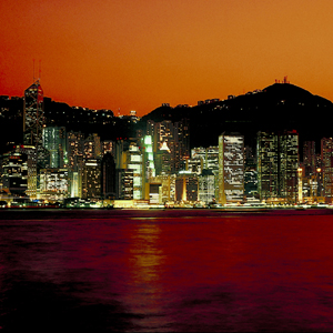 Hong Kong's skyline at dusk