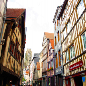 The Medieval Town of Rouen, France