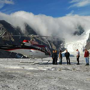Denali Glacier Landing By Helicopter