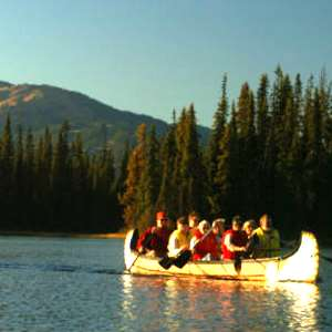 Canoeing In Sun Peaks With Fur Traders Feast