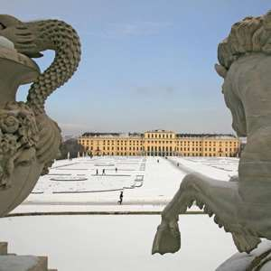 Schonbrunn Imperial Palace in Winter