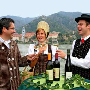 Tasting wine of the Wachau Valley