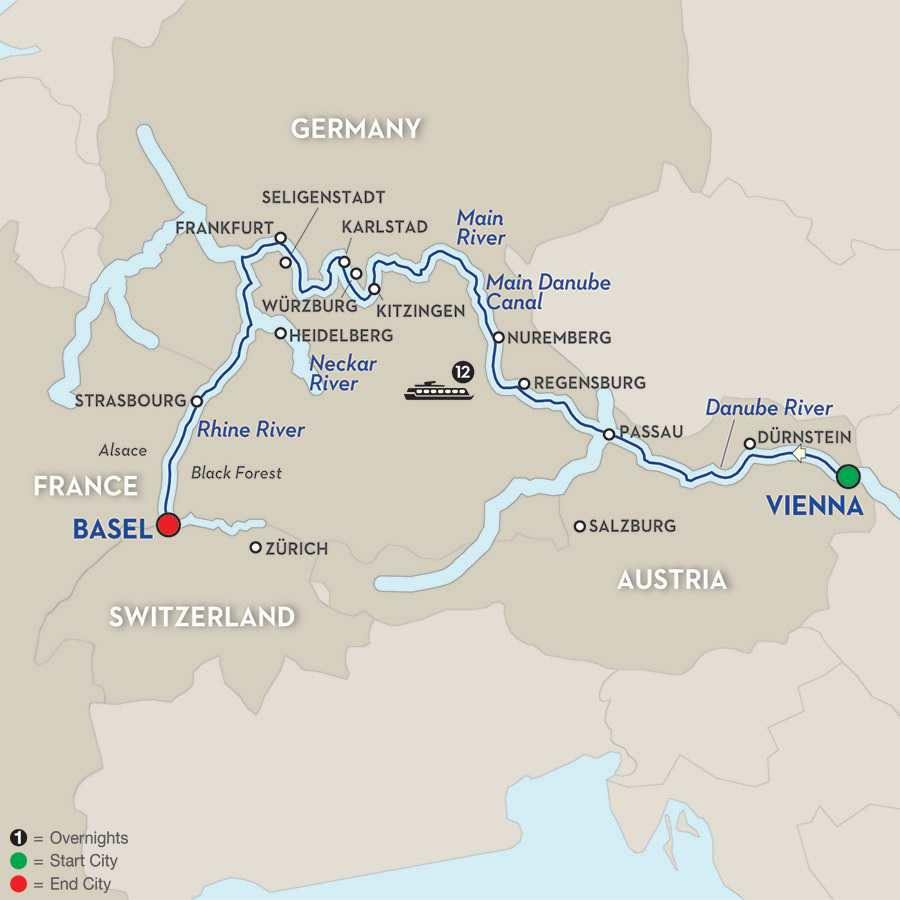Cheap Rhine River Cruises: Vienna On The Danube To Basel On The Rhine