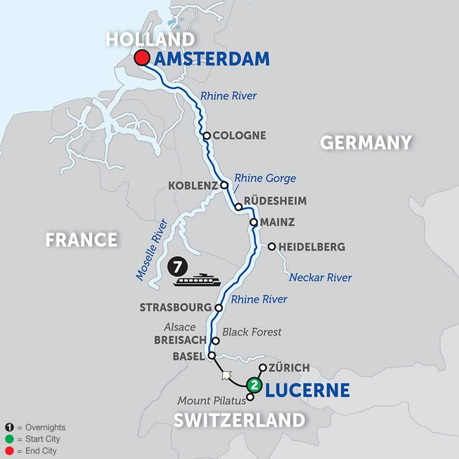 Cheap Rhine River Cruises: Romantic Rhine With Lucerne 2018 From Lucerne To Amsterdam