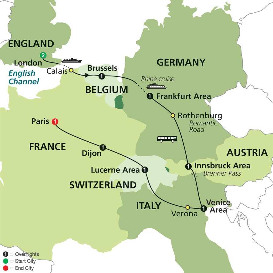 European tours cosmos 174 european travel packages