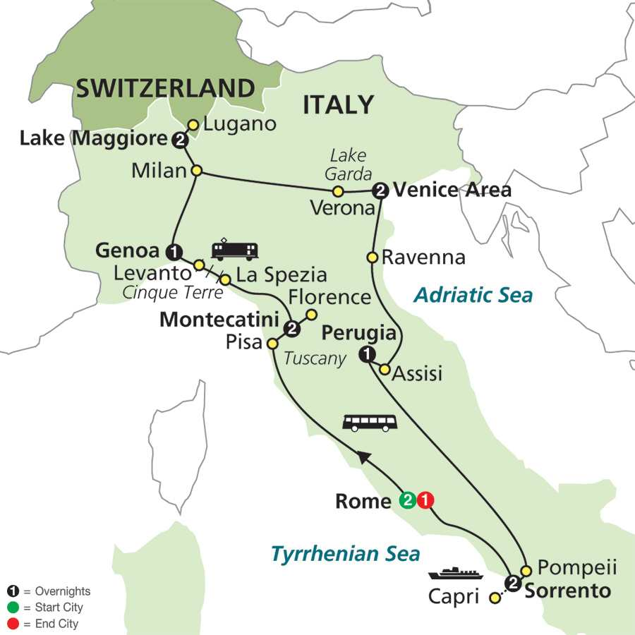 Italy tours cosmos 174 affordable tour packages