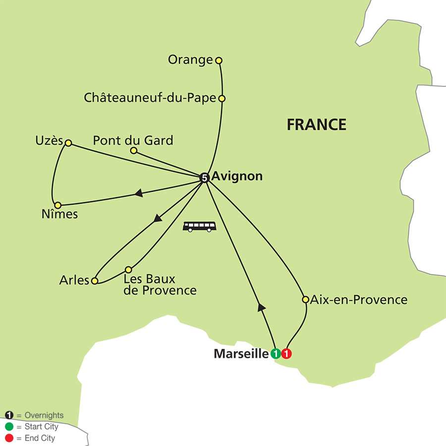 Discover Provence map