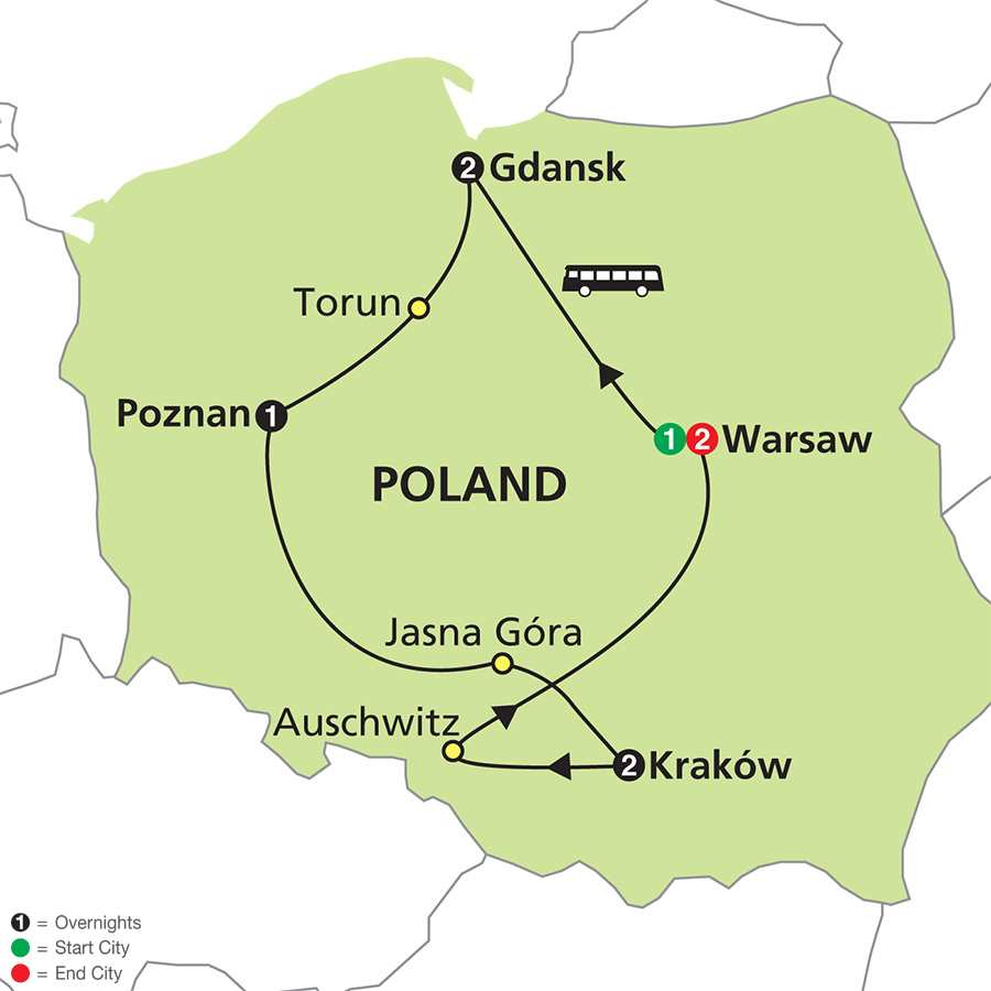 Jewels of Poland map