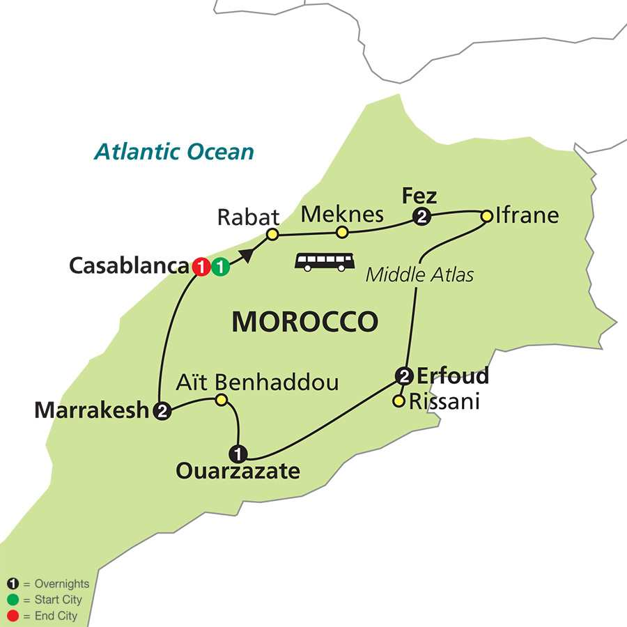 Jewels of Morocco map