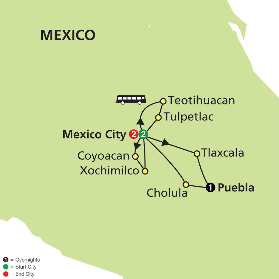 Mexico & Our Lady of Guadalupe map