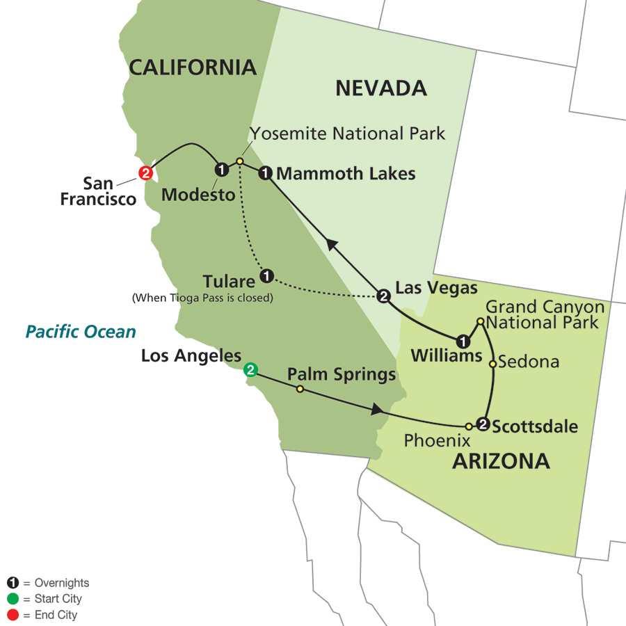 Western Wonders map