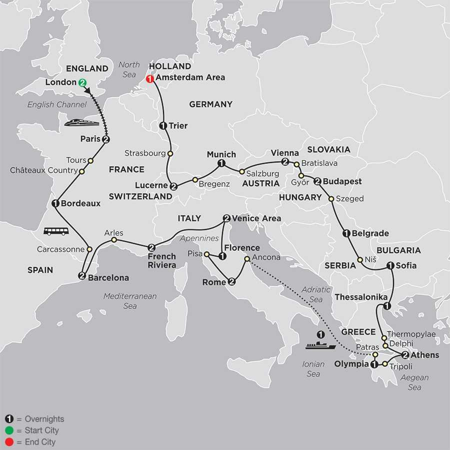 All About Europe map