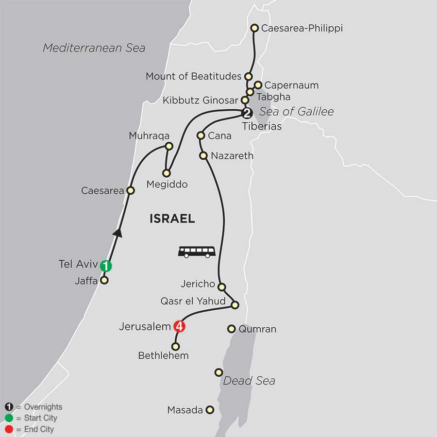 Biblical Israel – Faith-Based Travel map