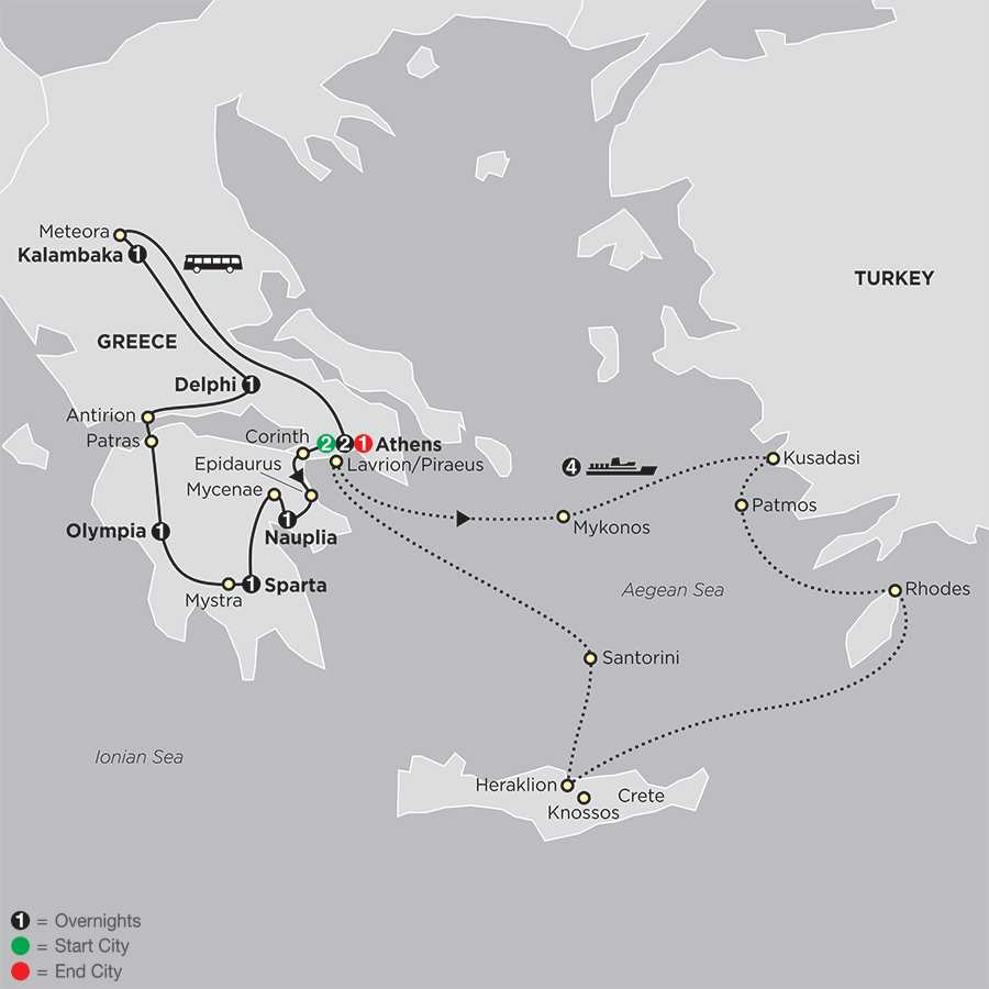 Greece & the Aegean map