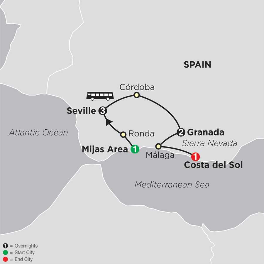 Discover Andalusia map
