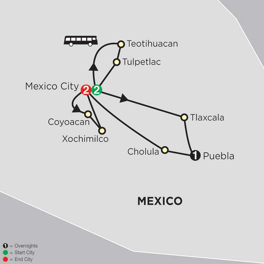 Mexico & Our Lady of Guadalupe – Faith-Based Travel map