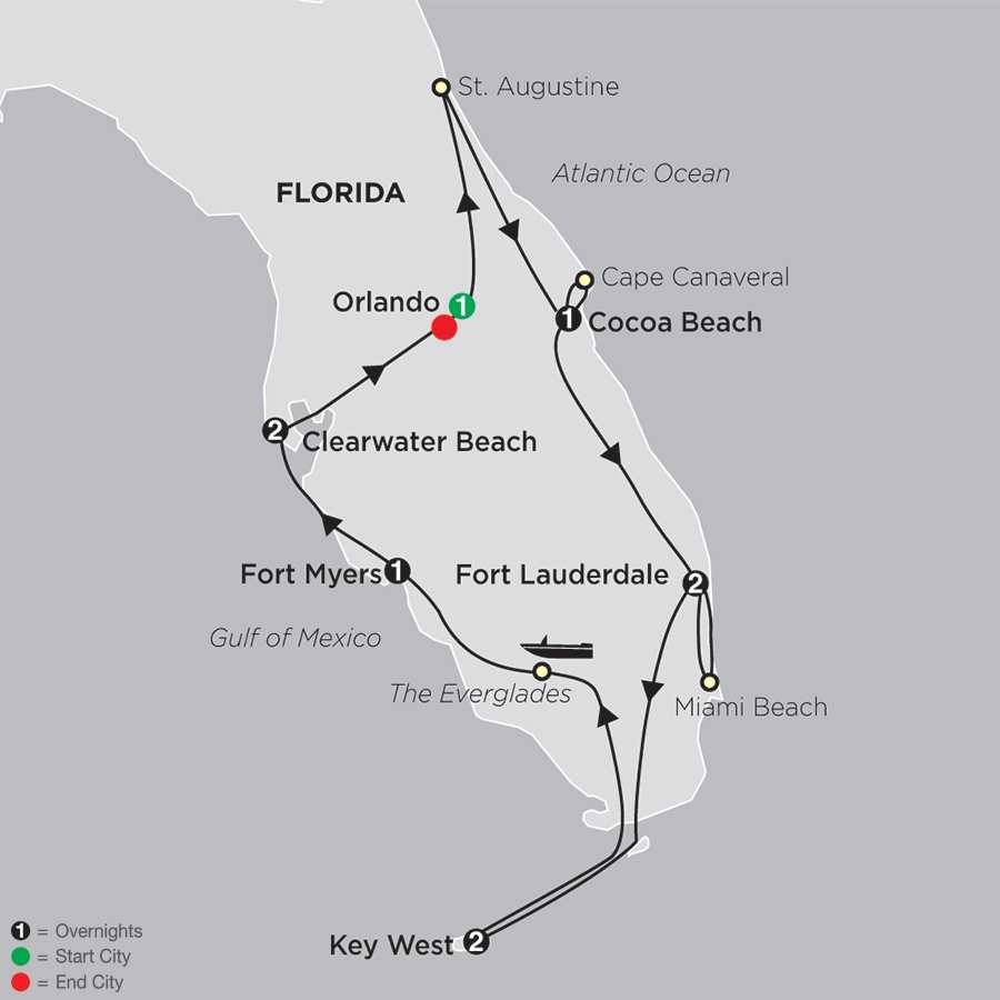 Florida Discovery map