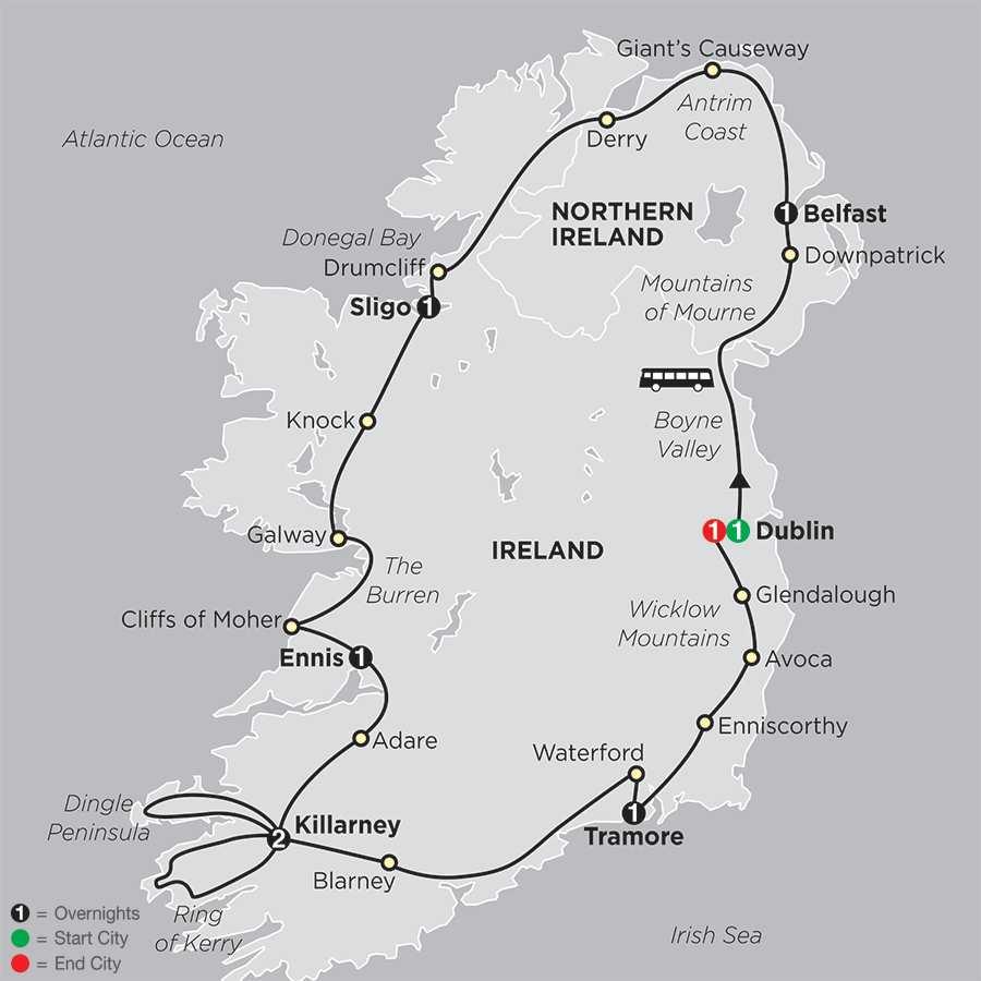 Irish Explorer map