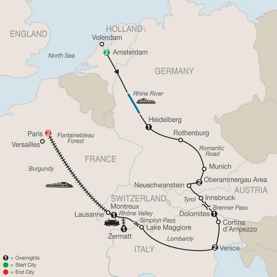European Charm map
