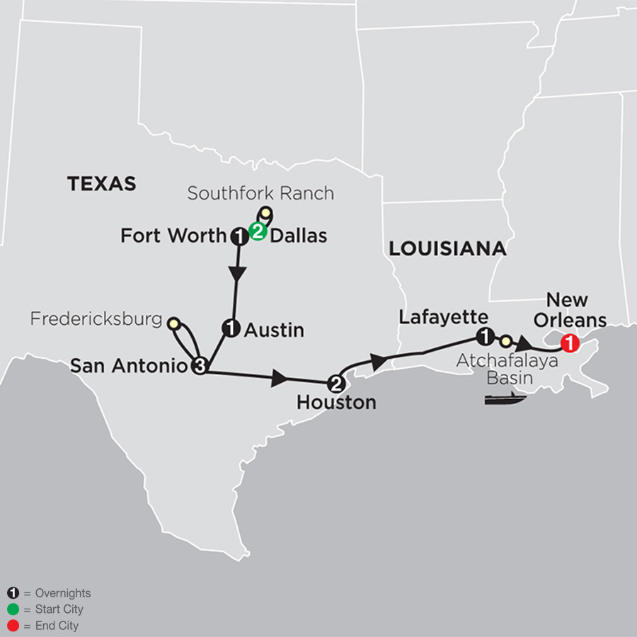 Texas - the Lone Star State map