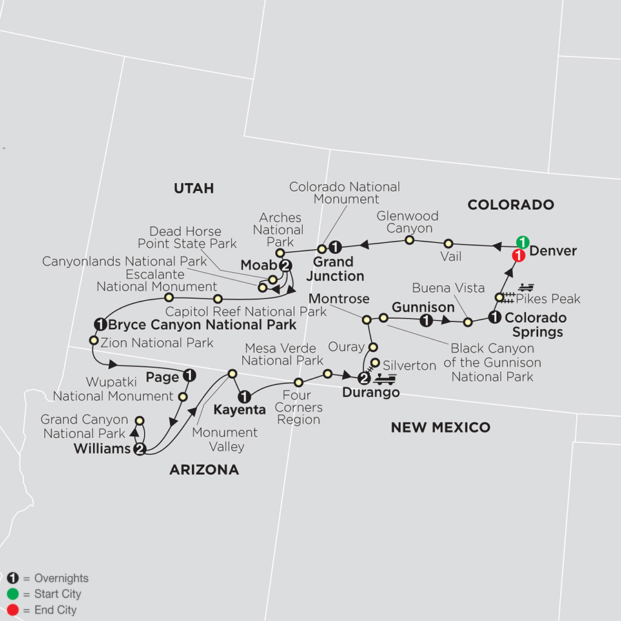Circle the American West map