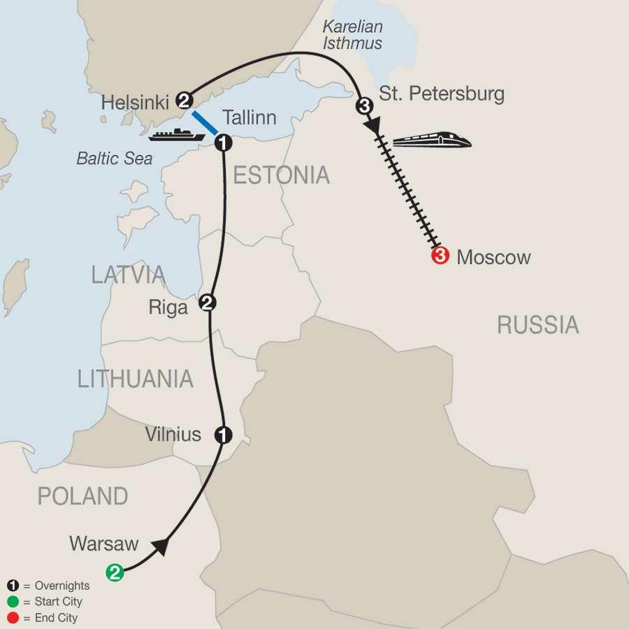 12 Día Russian River Cruise - San Petersburgo a Moscú.