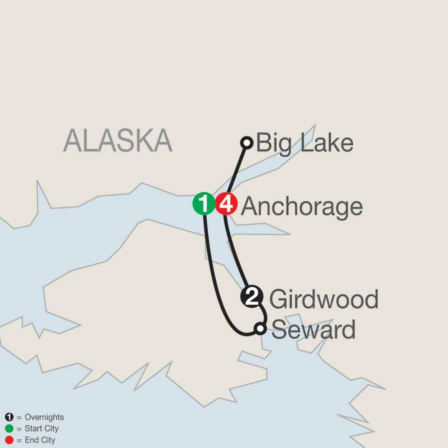 Alaska's Iditarod map