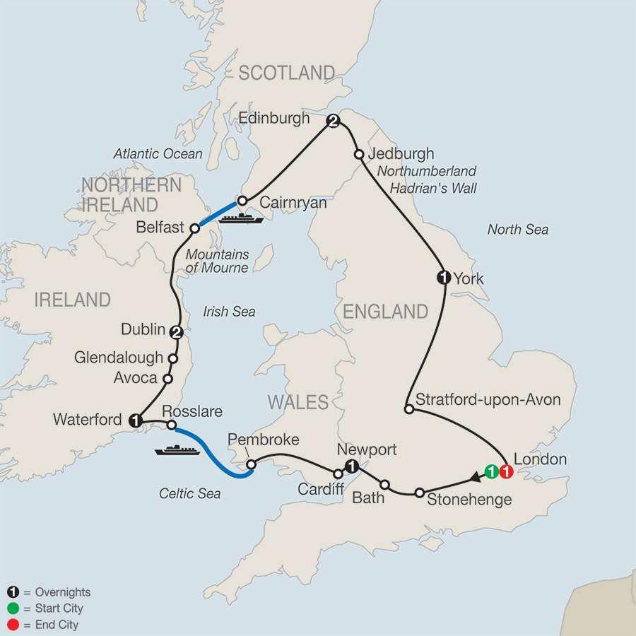 Essential Britain & Ireland map