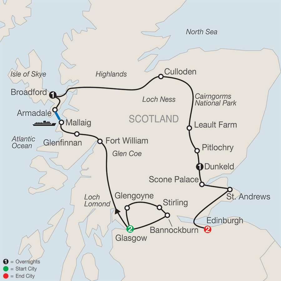 Bonnie Scotland map