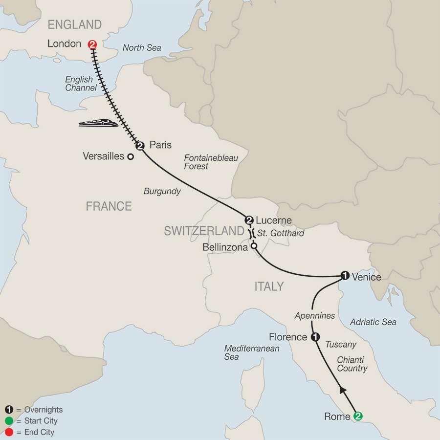 Essential Europe map