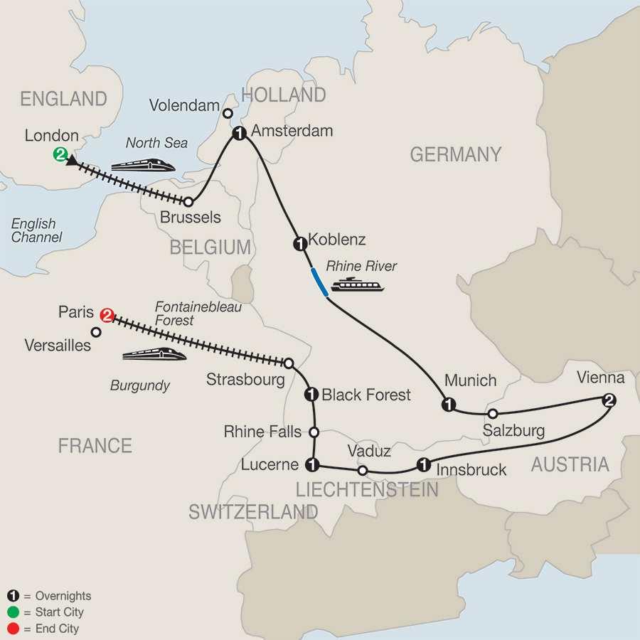 Enchanting Europe map