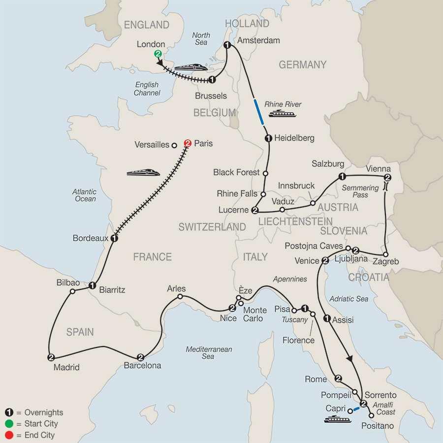 Europe in Depth map