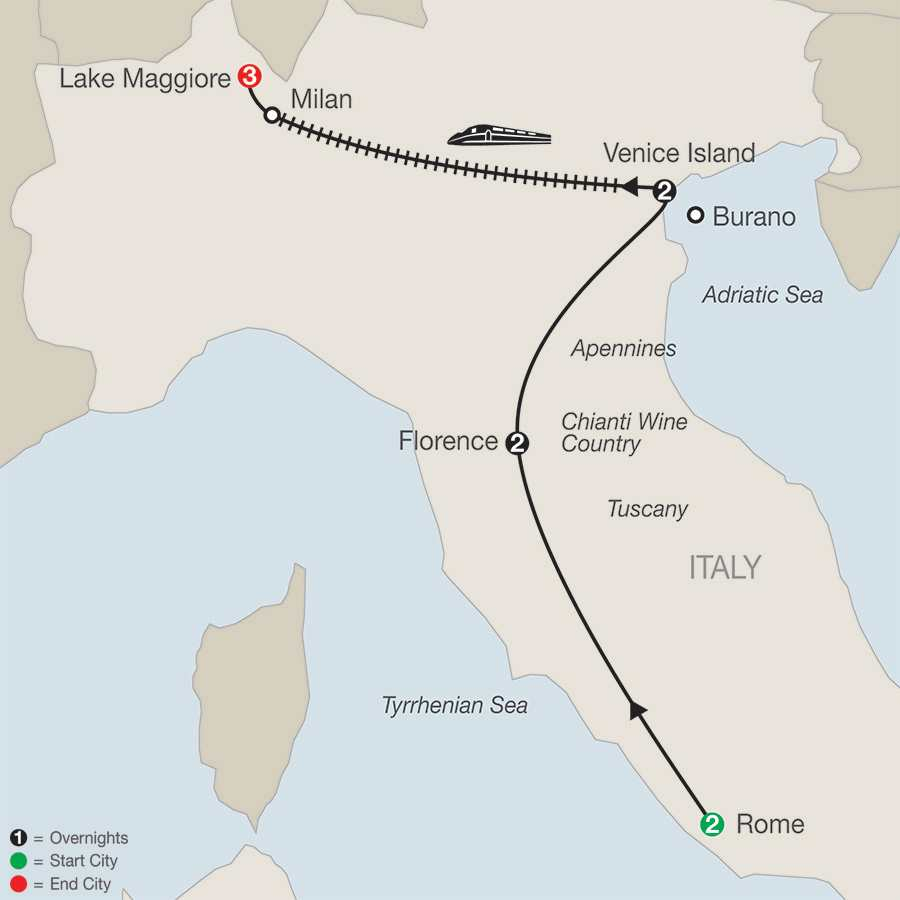 A Taste of Italy with Lake Maggiore map