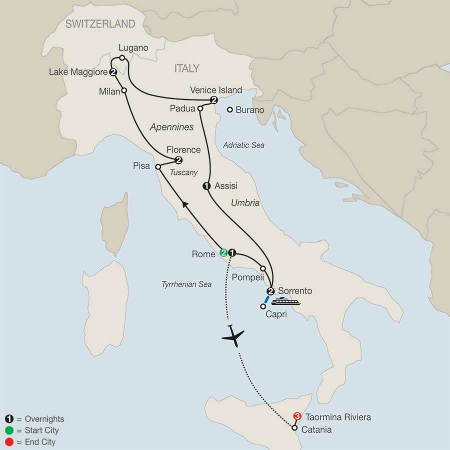 Italian Mosaic with Taormina Riviera map