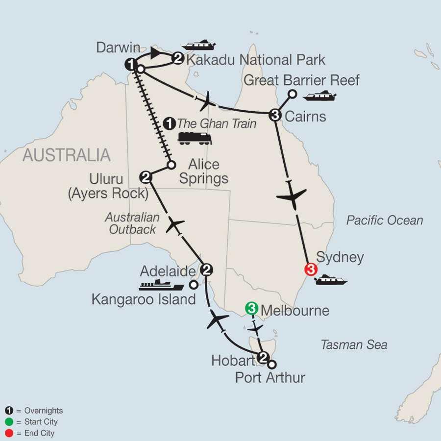 Exploring Australia map