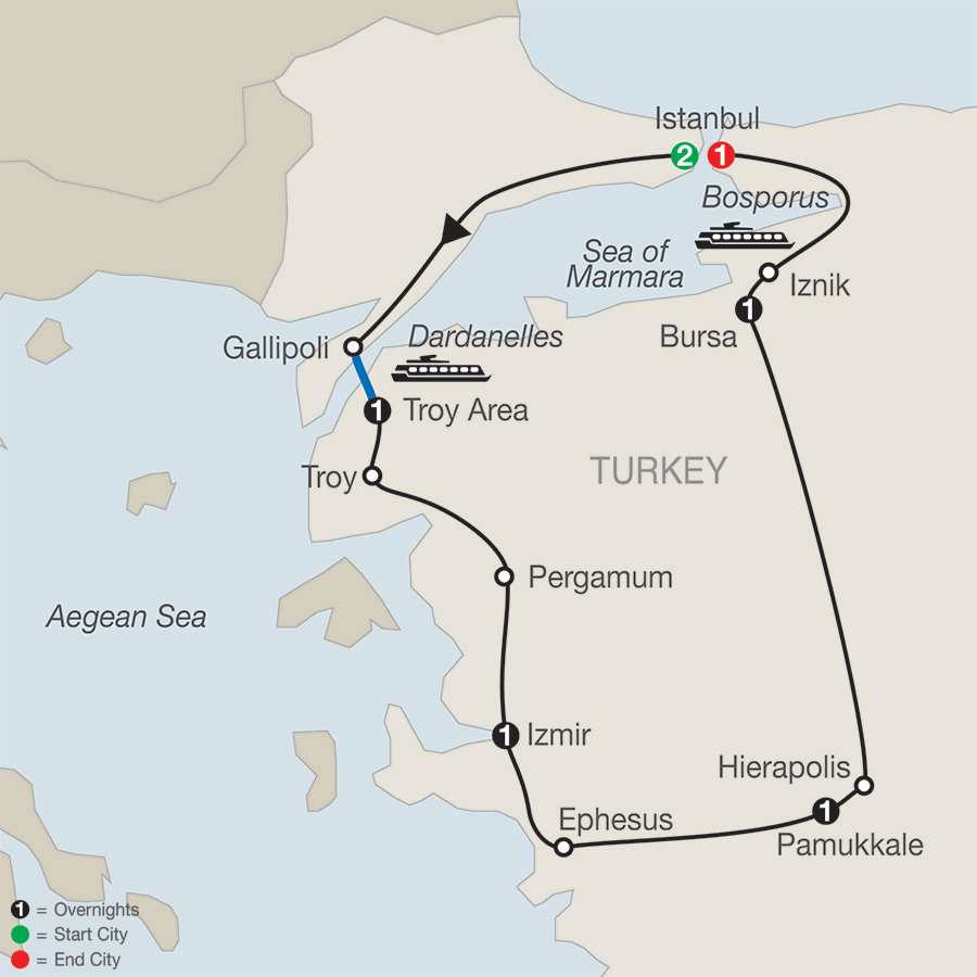 The Best of Turkey map