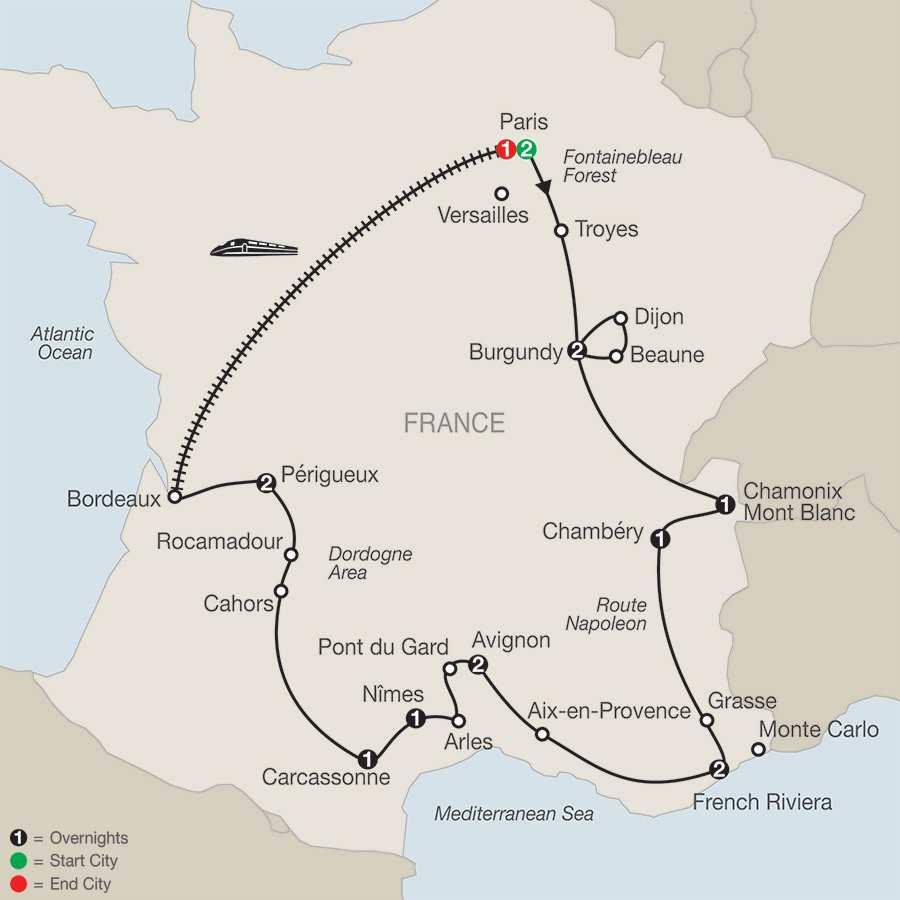 Beautiful France map