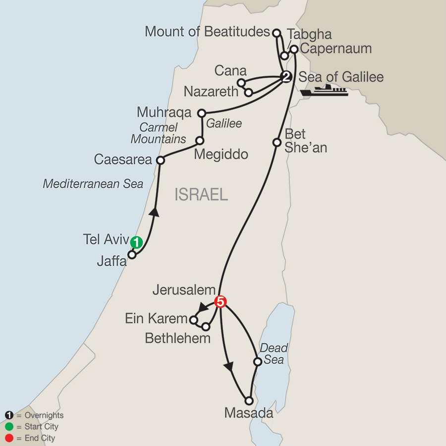 Journey Through the Holy Land – Faith-Based Travel map