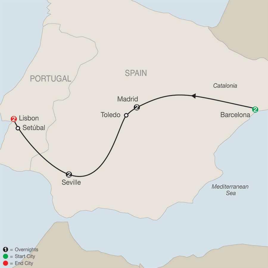 Iberian Tapestry map