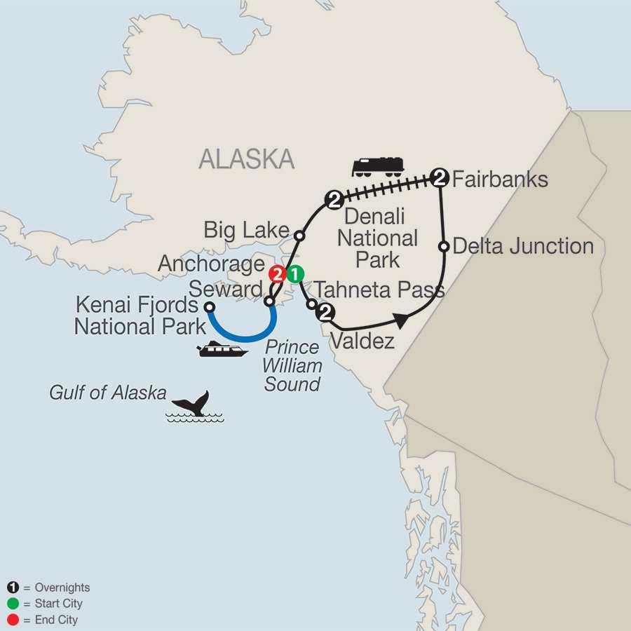 Spectacular Alaska! map