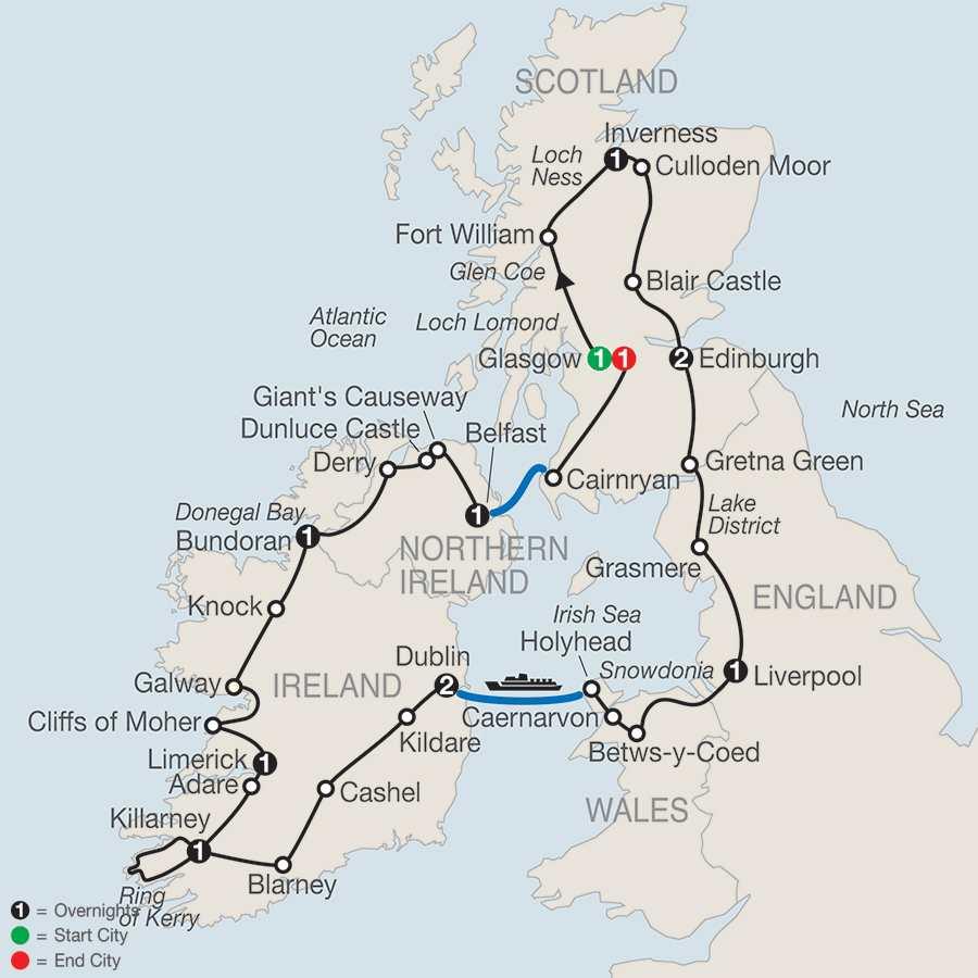Celtic Highlights map