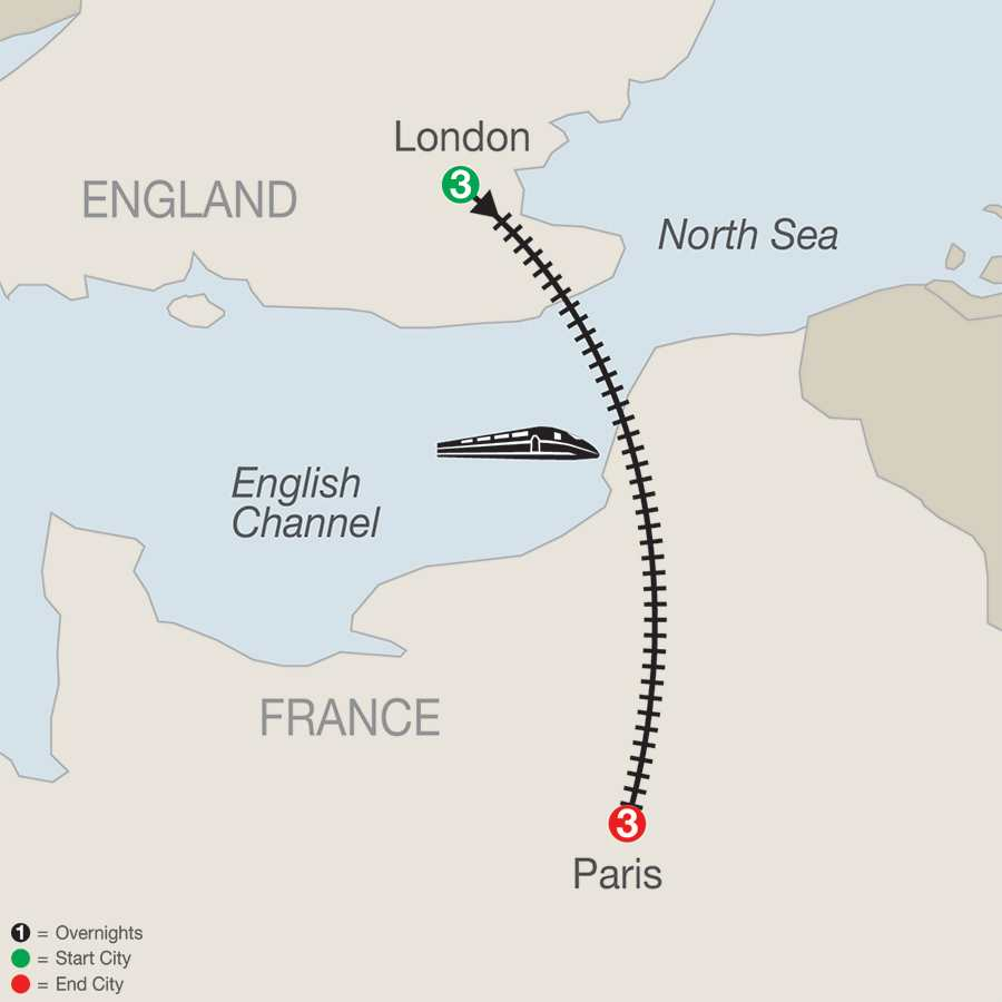 London & Paris map