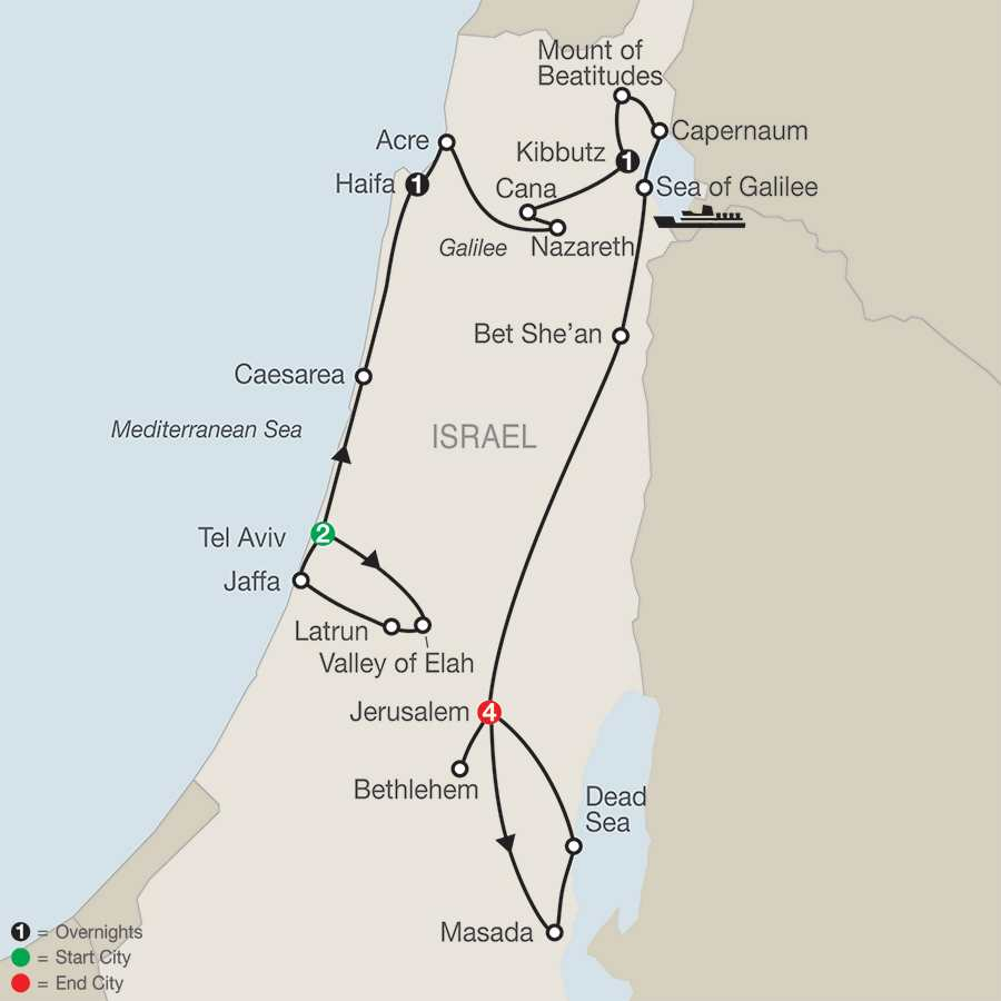 MAP Fascinating Israel 2017 – Israel Tourist Attractions Map