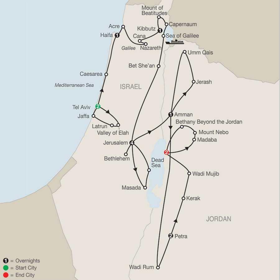 Israel  Jordan Guided Tours  Vacations  Trips  Globus