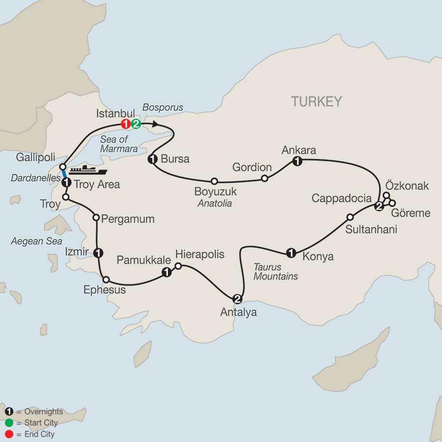 Turkish Delight map