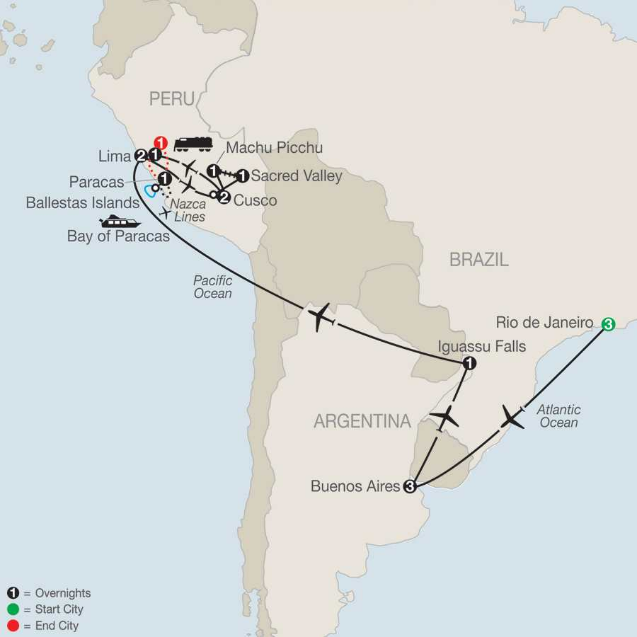 Spirit of South America with Nazca Lines map
