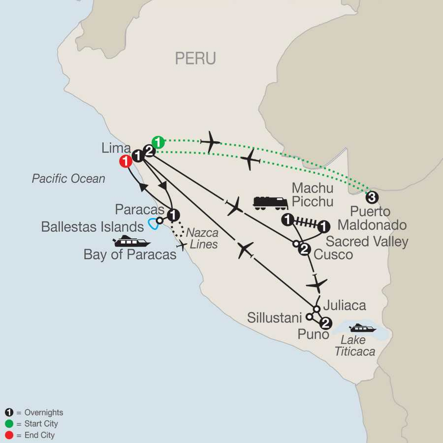 Legacy of the Incas with Peru's Amazon map