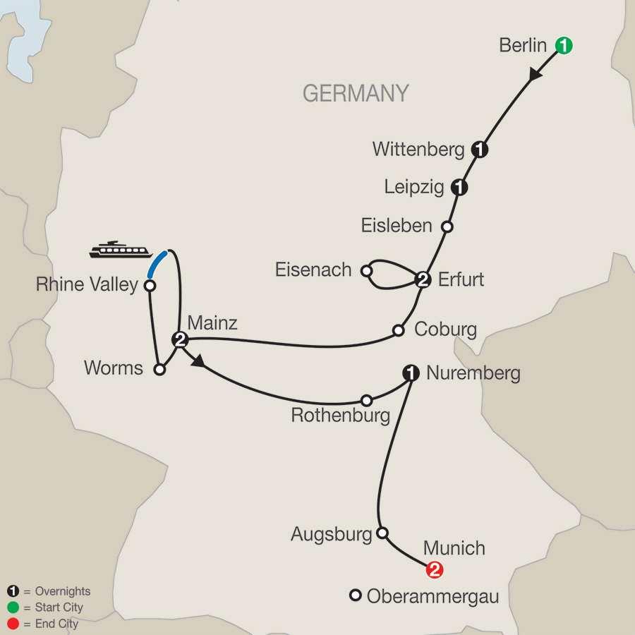 The European Reformation – Faith-Based Travel map
